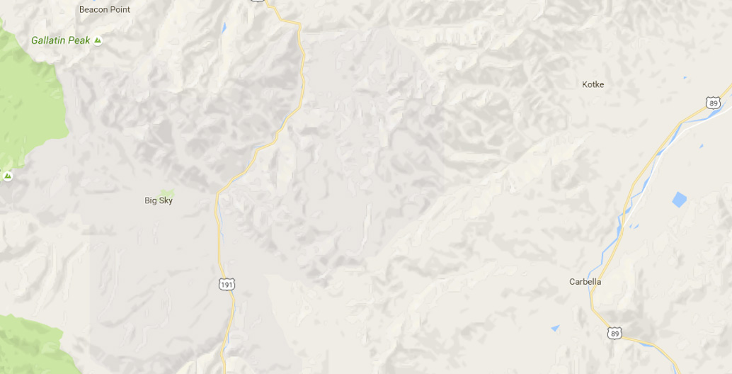 Gallatin National Forest google maps