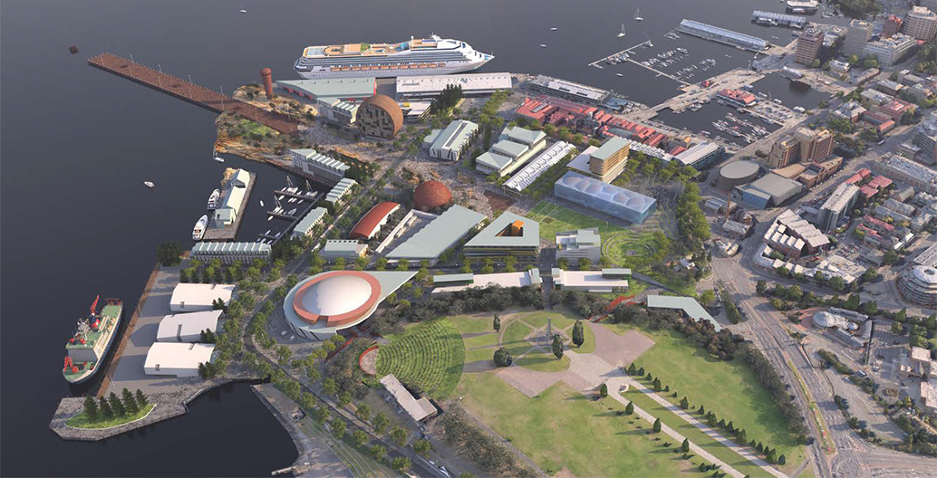 MONA's proposal for Macquarie Point in Hobart would create a new cultural precinct for the city.