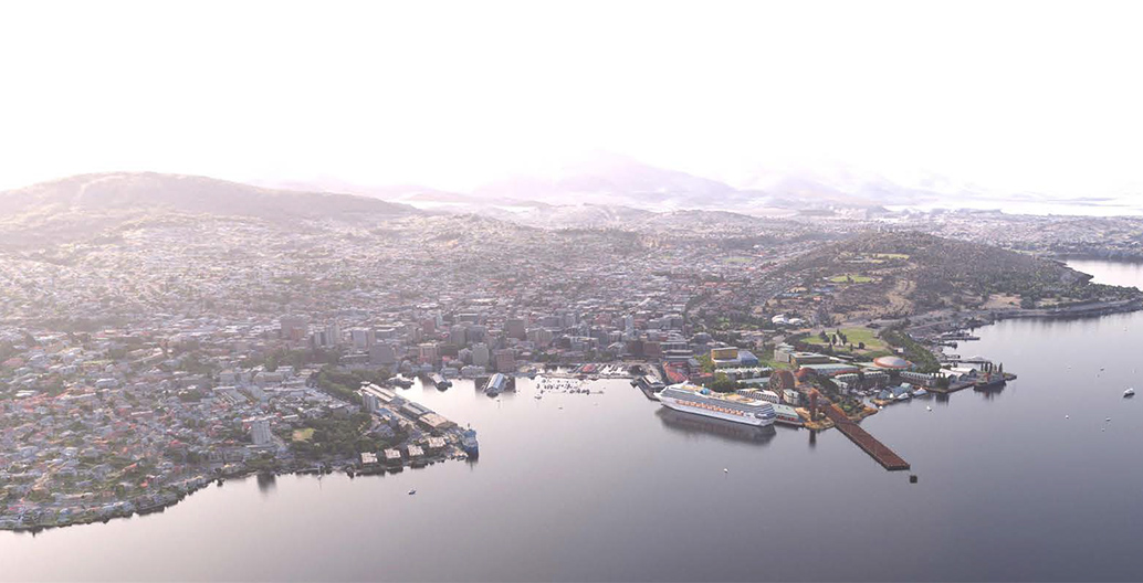 MONA's plans for Macquarie Point in Hobart, Tasmania, would see a new cultural precinct for the city.