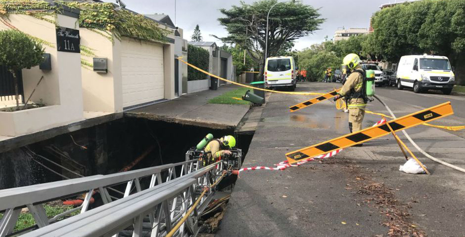 Point Piper pot holes. Image courtesy of NSW Fire and Rescue