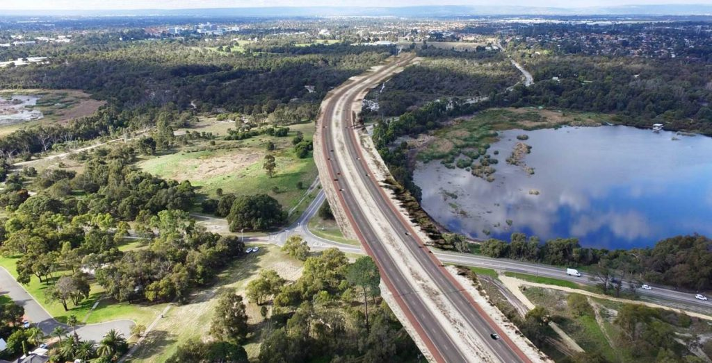 The proposed extension of the Roe Highway Image courtesy of Main Roads WA