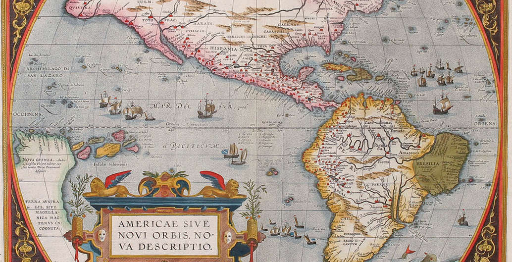 """The original Atlas' map of the then """"new world""""."""