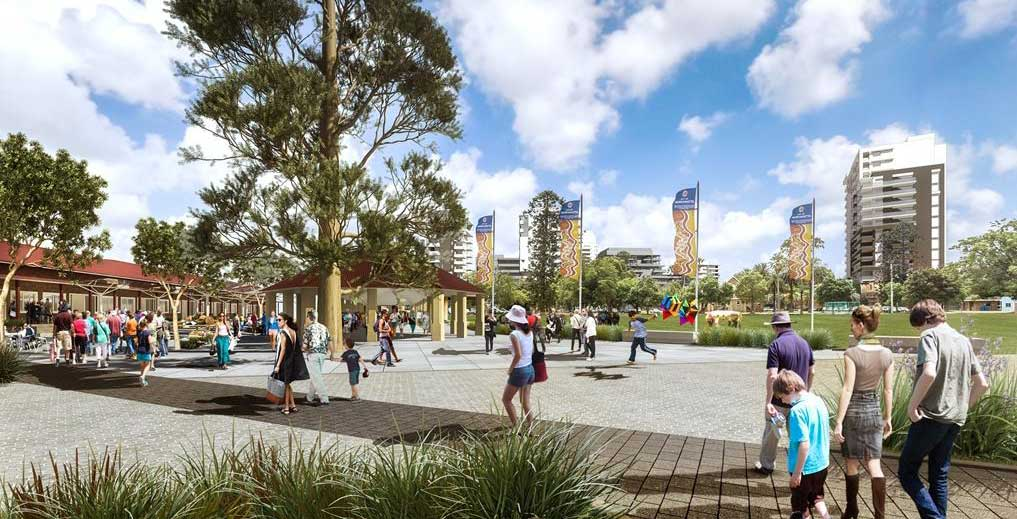 An artist's impression of the redeveloped North Parramatta heritage site. Image: Urban Growth NSW.