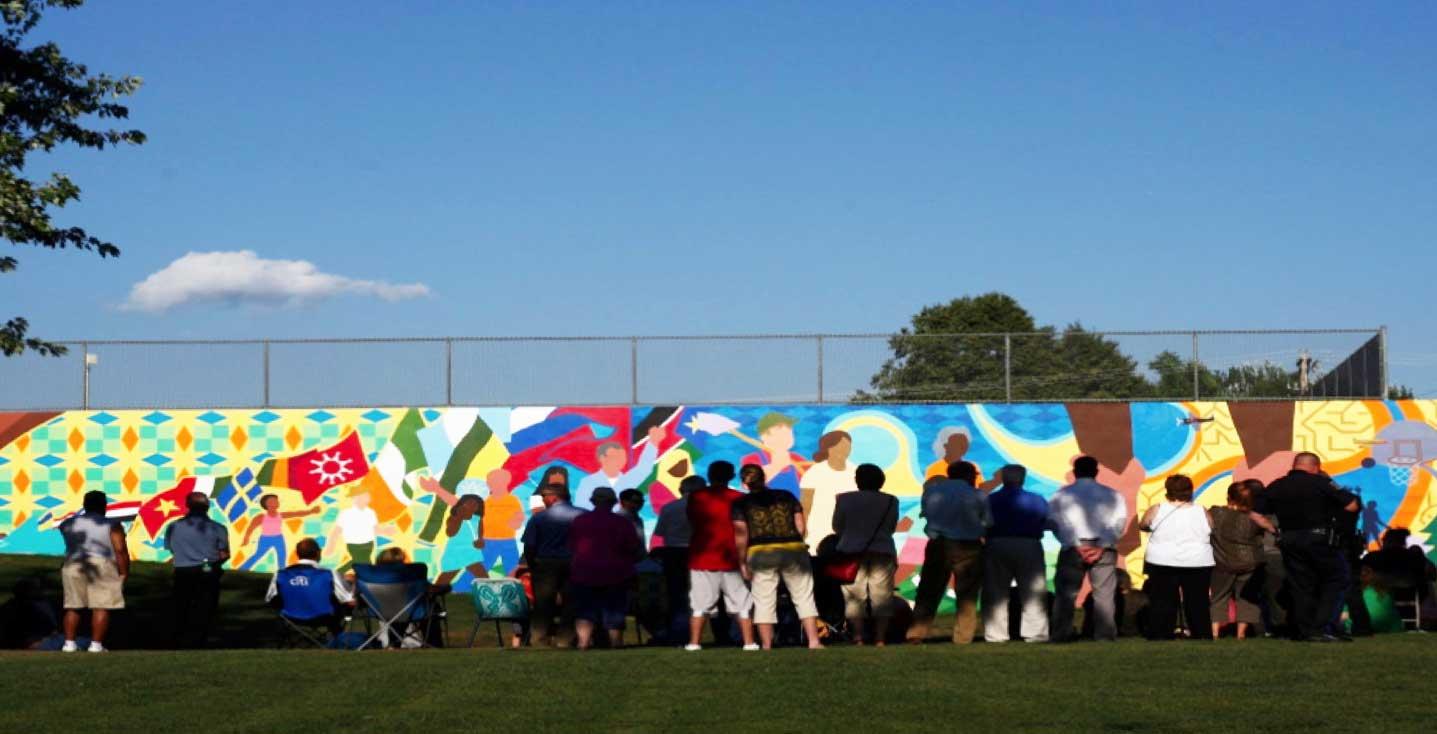 Community mural project, Sioux Falls Arts Council.
