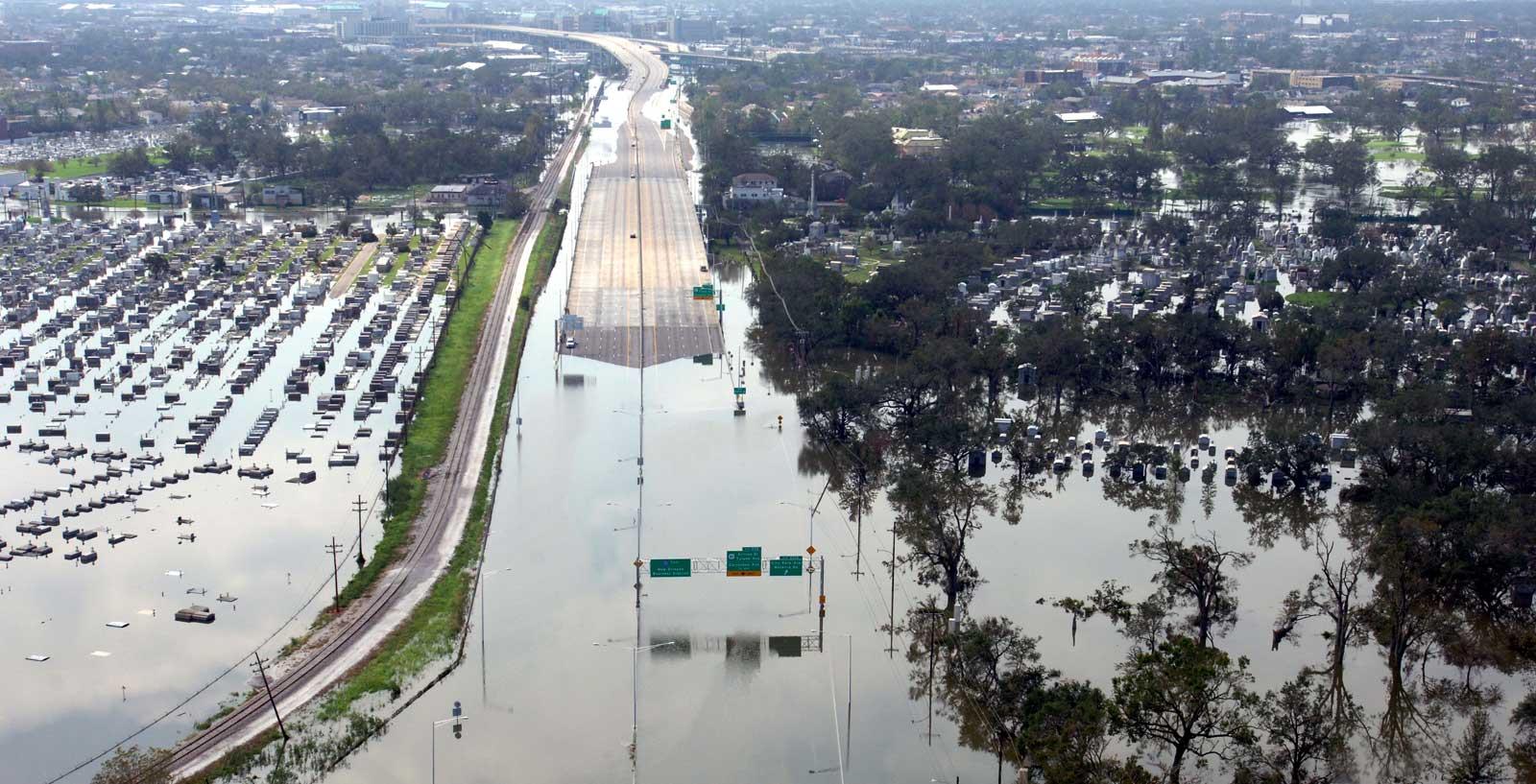 Flooded highways in New Orleans, post-Katrina. Image: Jocelyn Augustino.
