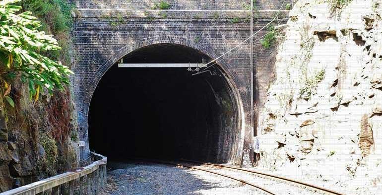 Lavender Bay rail tunnel, Sydney.
