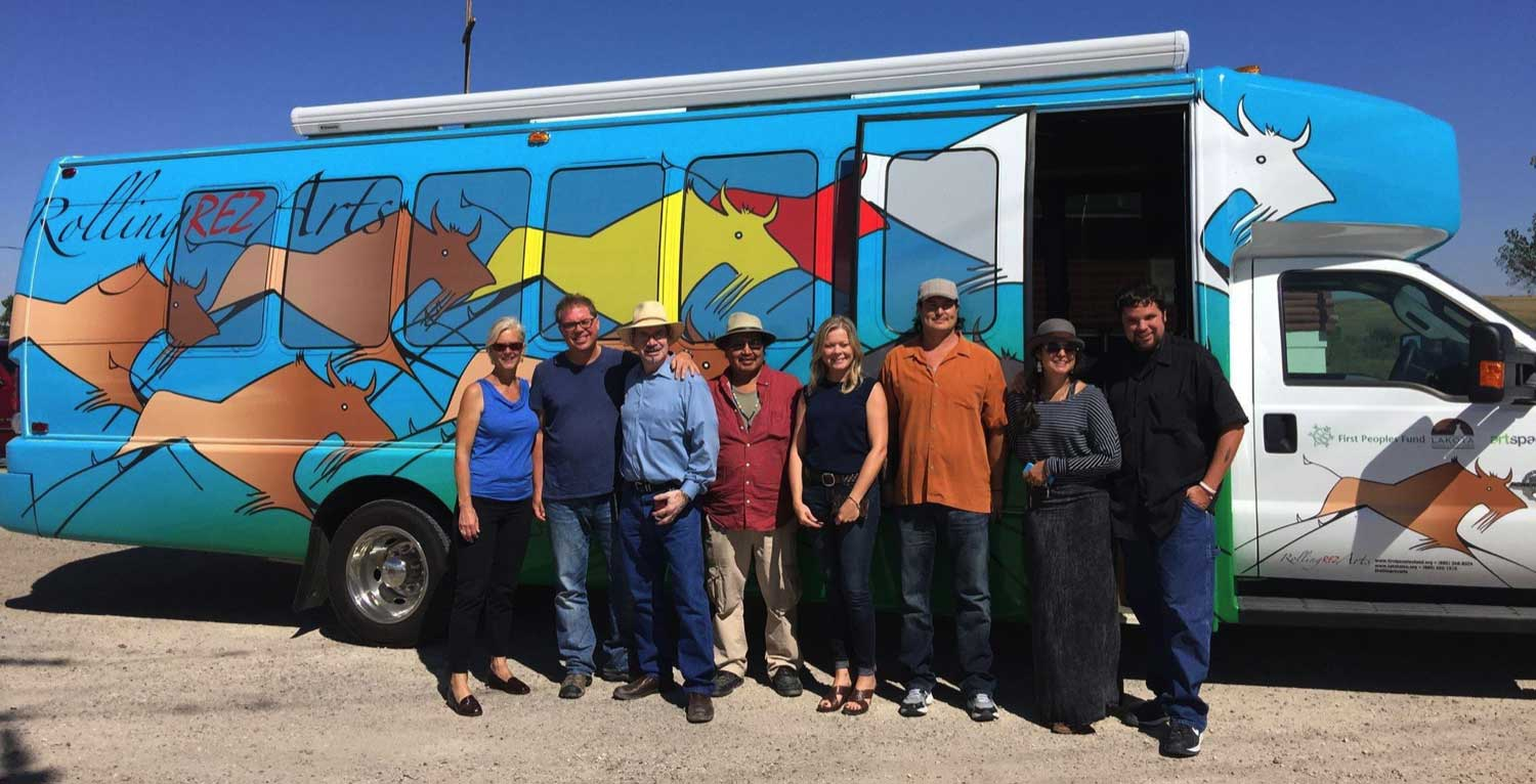 Rolling Rez Arts is a mobile arts space, business training centre, and mobile bank.