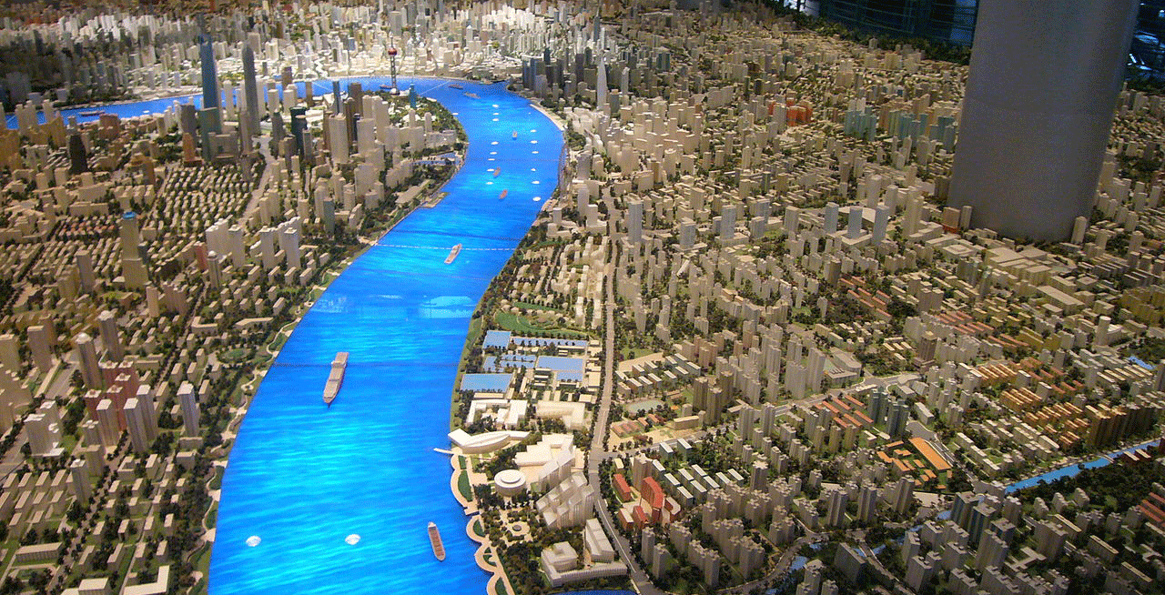 A model of Shanghai at 2020. Image: Urban Planning Exhibition Centre.