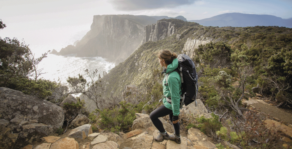 Three Capes Track - Cape Pillar and the Blade. Image: Tasmania Parks and Wildlife Service