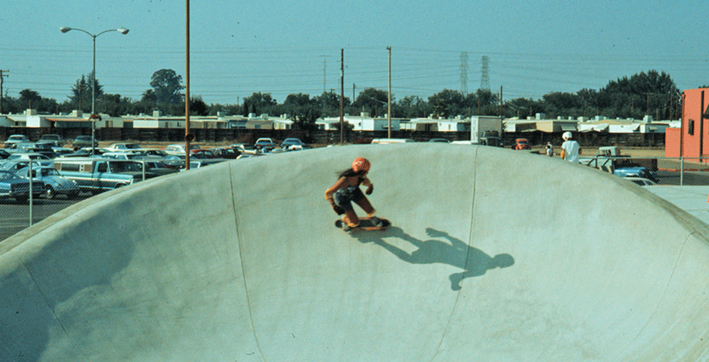 An vintage image from a skate-meet in '70s California.