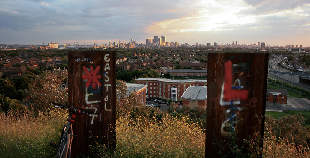 Outer London's Beckton Alps sits on the former site of a garbage site.