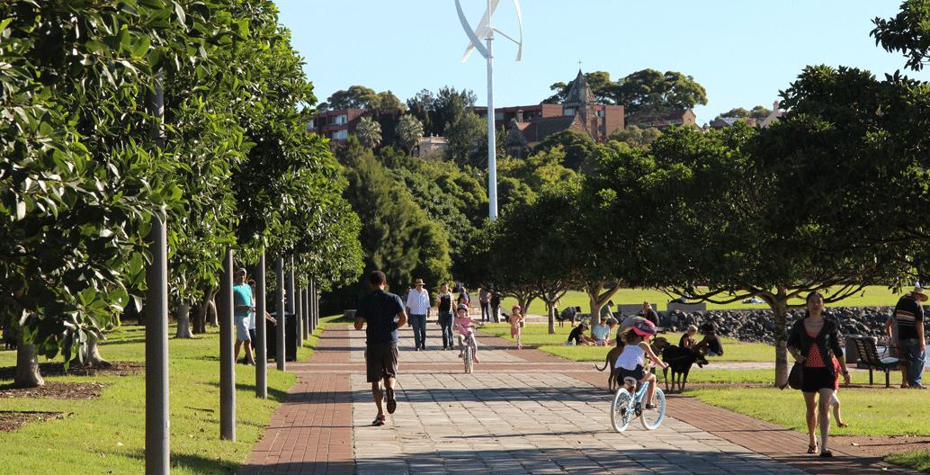 Sydney's Glebe foreshore.