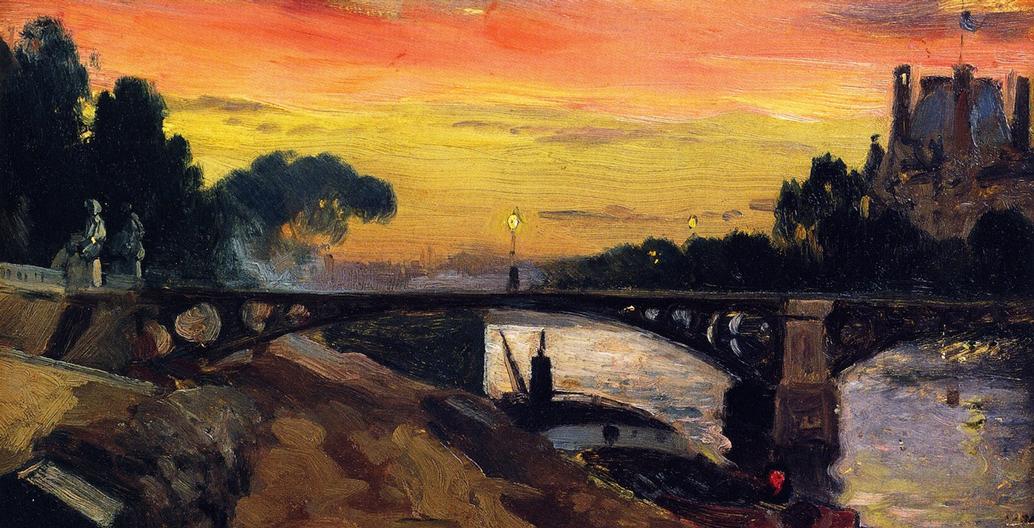 Mathias J Alten: 'Paris, view of the Seine, Night' (1899).
