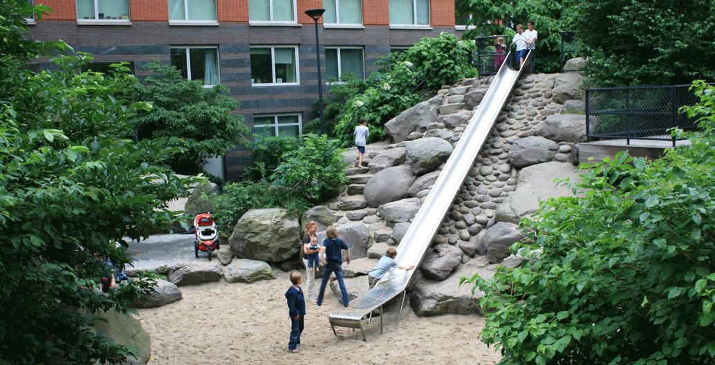 Teardrop Park Playground, New York. Image: Linda Corkery.