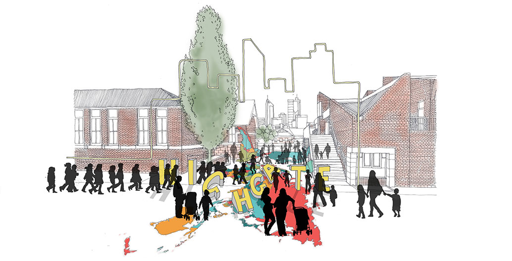 Collaborating on a new playground led to exciting design outcomes Image: UDLA/Highgate Community