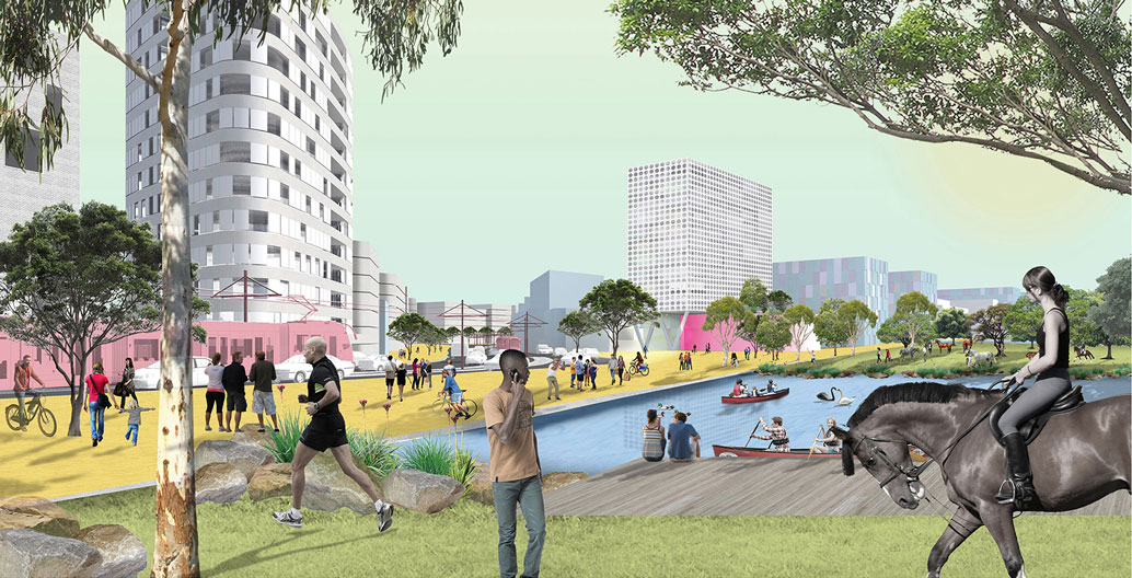 Urban Design Landscape Architecture Award: K2K Urban Design (JMDdesign + Hill Thalis Architecture and Urban Projects + Bennett & Trimble Architects).