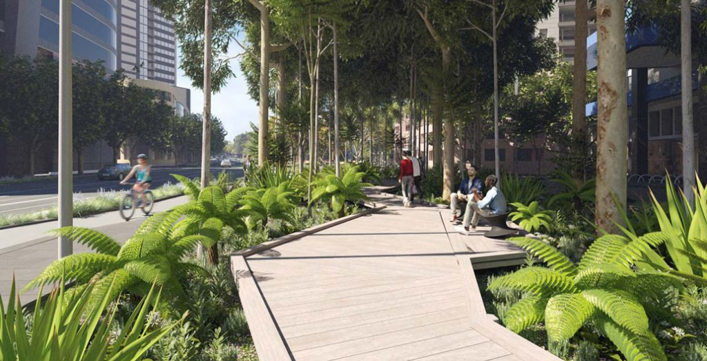 The proposed City Rd rainforest in Melbourne's Southbank.