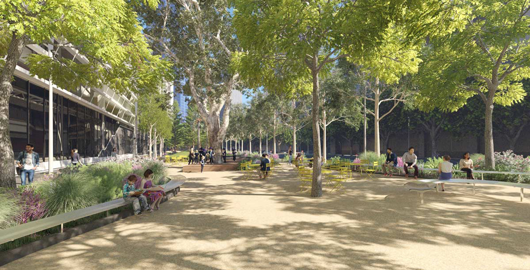 Proposed new open space in front of the ABC's Southbank Centre.