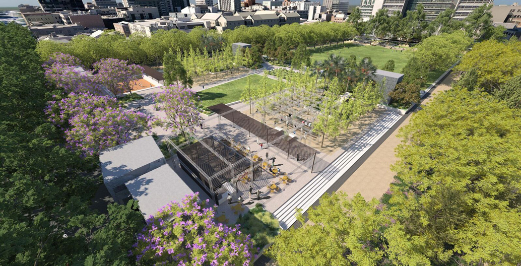 The park will utilise various understorey plantings to combat climate change.