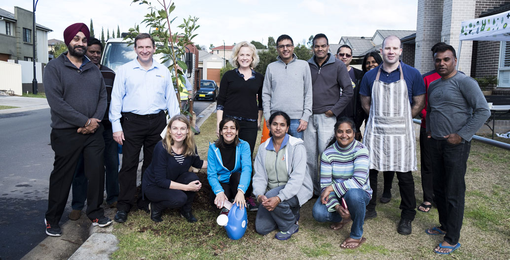 Cool Streets' debut recipients in Blacktown, NSW.