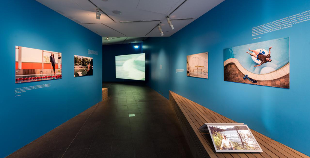 'The Pool' architecture exhibition installation in the Design Studio at NGVA. Image: Narelle Wilson.