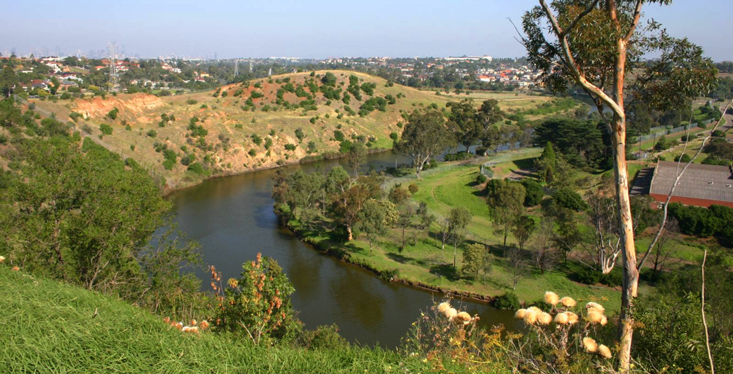 The Maribyrnong River in West Essendon.