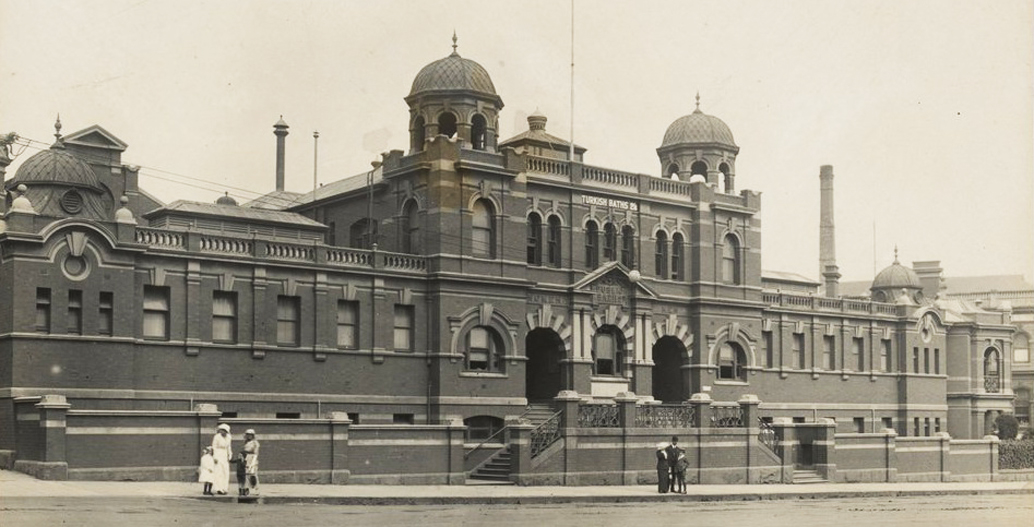 Melbourne's City Baths have been open since 1860 (pictured here in 1914).