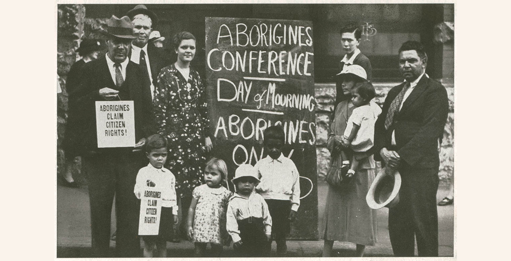 'Aborigines Day of Mourning, Sydney. 26 January 1938'. Image: State Library of NSW.
