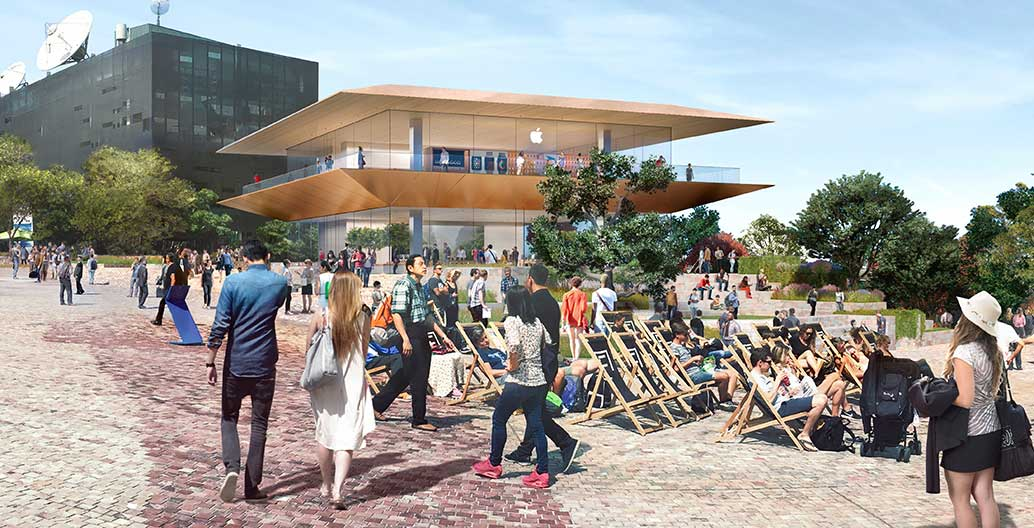 The Victorian Government has announced plans to demolish Federation Square's Yarra Building for an Apple store.