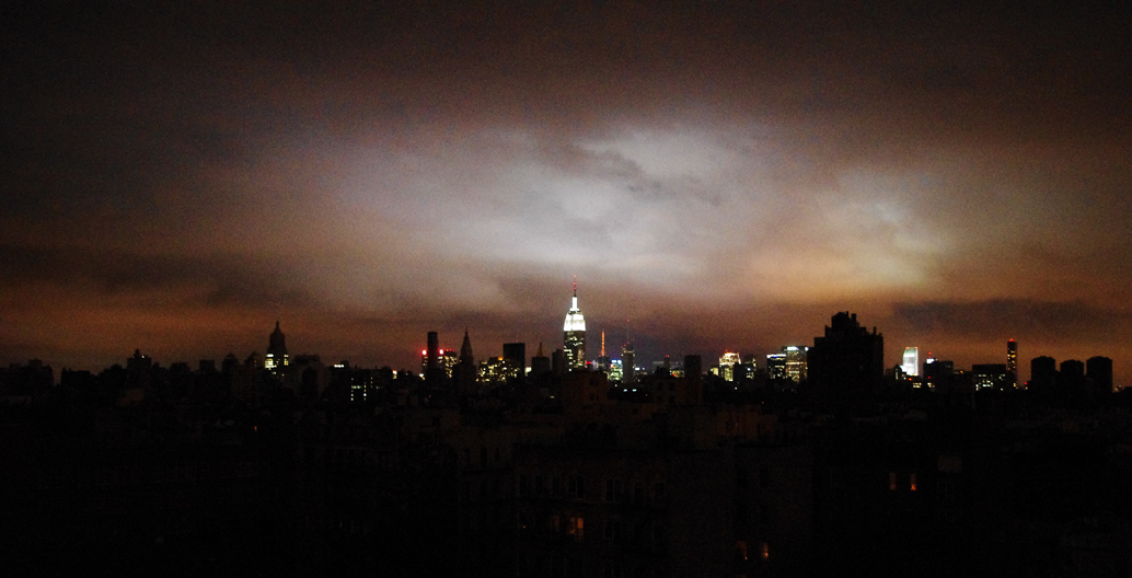 Manhattan's blackout during Superstorm Sandy.