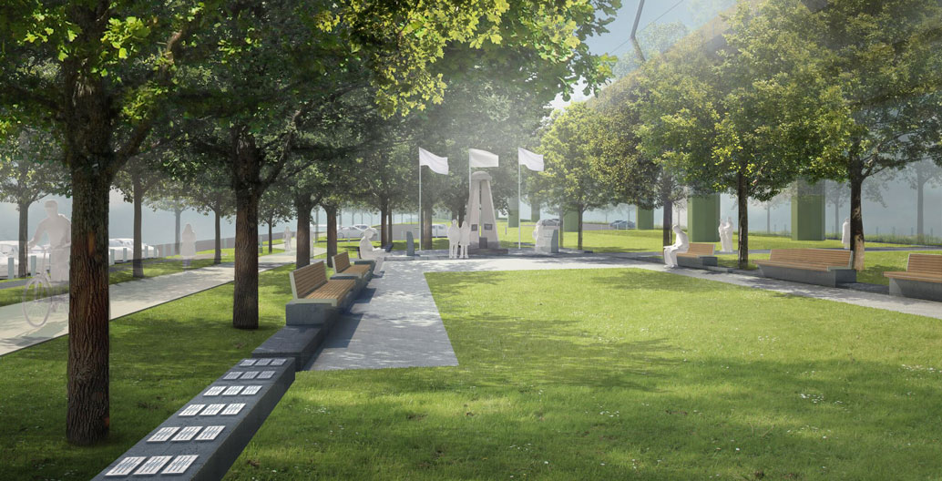 The park's proposed RSL memorial and ceremonial space. Image: LXRA.