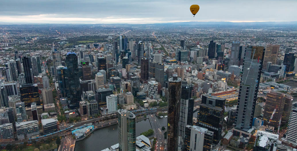 Melbourne's CBD view from Southbank. Image: Chris Brown.
