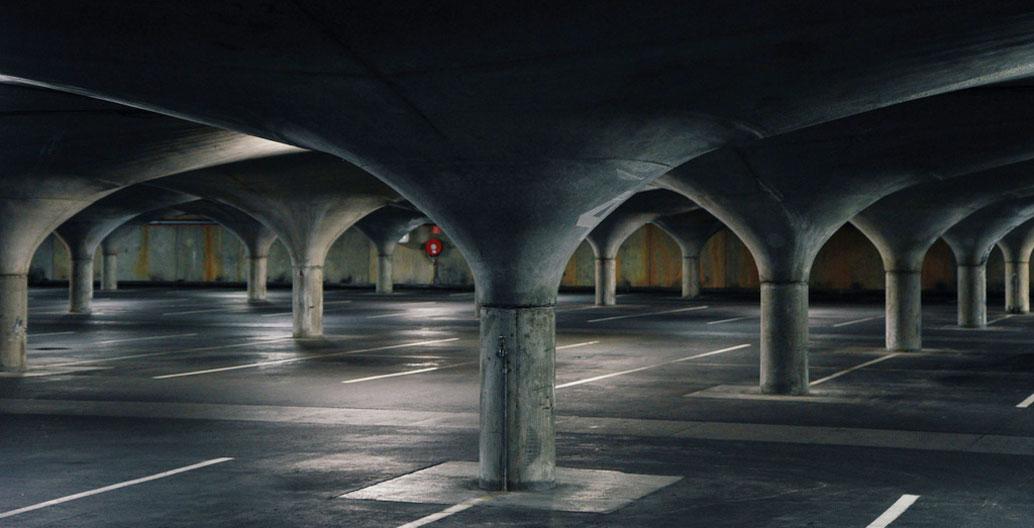 University of Melbourne underground carpark