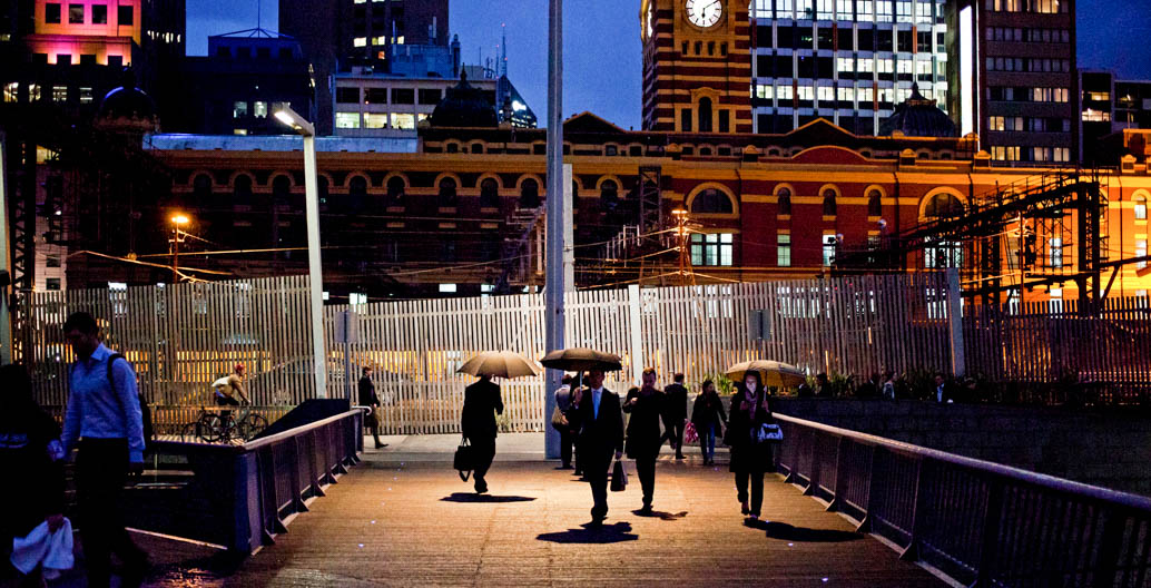 The Evan Walker Bridge, Southbank. Image: Chris Brown.
