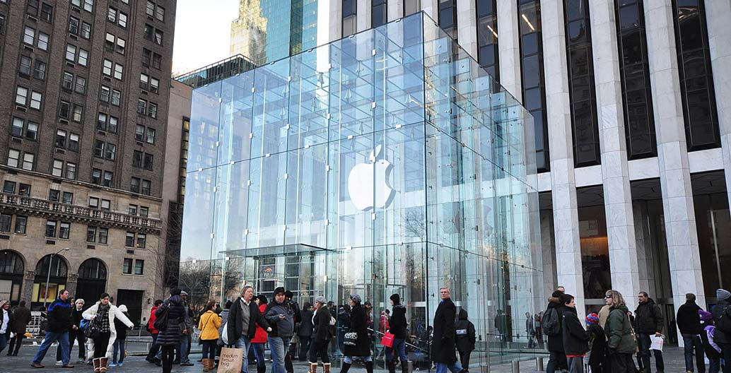 Apple's store on Fifth Avenue in Manhattan, New York. Are Apple's plans for Fed Square a form of brand urbanism?