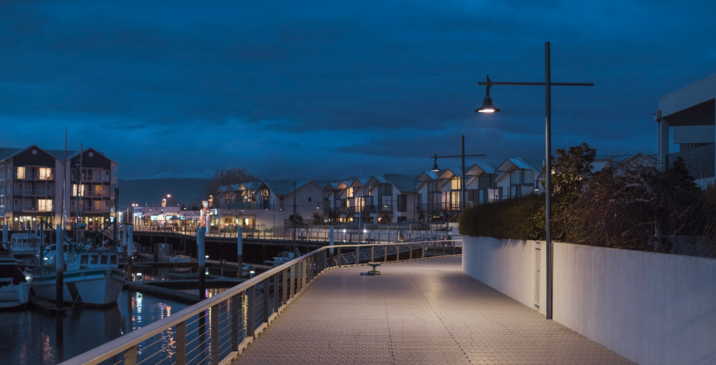 Launceston Seaport's lighting upgrade achieved energy reductions and improved pedestrian experience. Credit: WE-EF