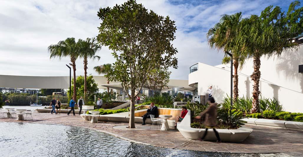 Riverside Centre revitalisation by 360 Degrees, Civic Landscape Architecture Award.
