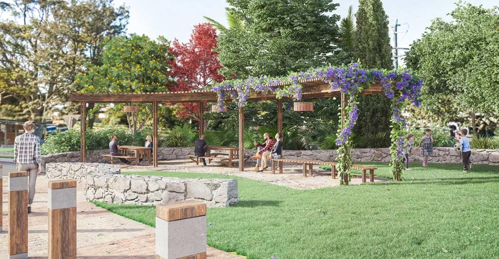 Scenic Rim: Tamborine Mountain Village Greens by John Mongard Landscape Architects. Image: Troy Rafton