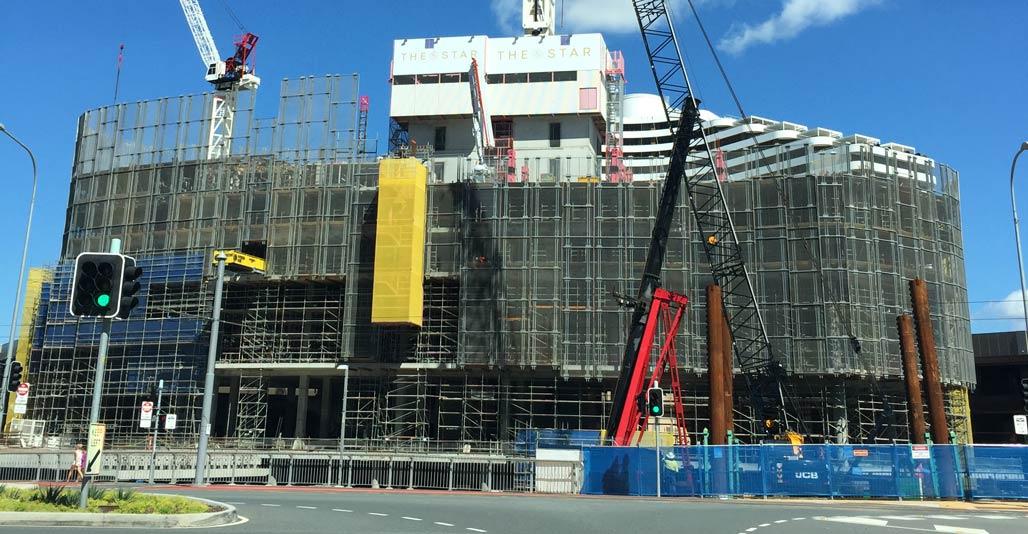 Jupiters Casino redevelopment at Broadbeach, with zero set-backs. Image: Tory Jones