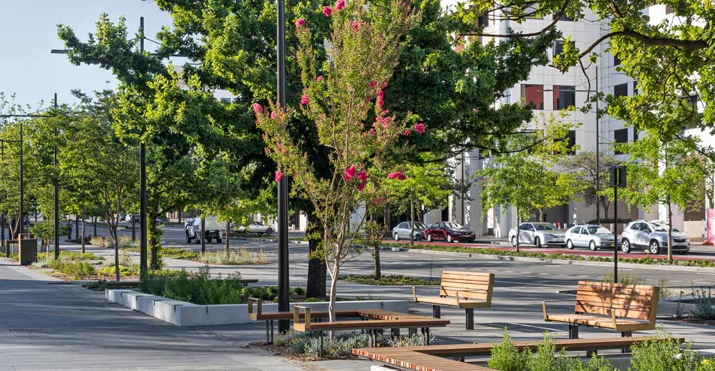 JILA's upgrades to Constitution Avenue make spaces for people.