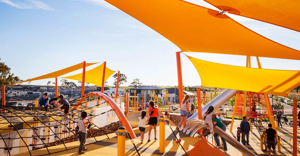 Moncrieff Community Recreation Park by Redbox Design Group, 2018 AILA ACT Play Spaces Award. Image: Max Yarra