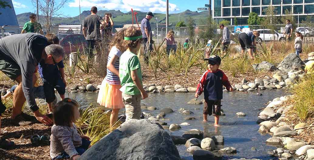 Nature Play Park brings native plants into Christchurch city. Image: Ed Lust