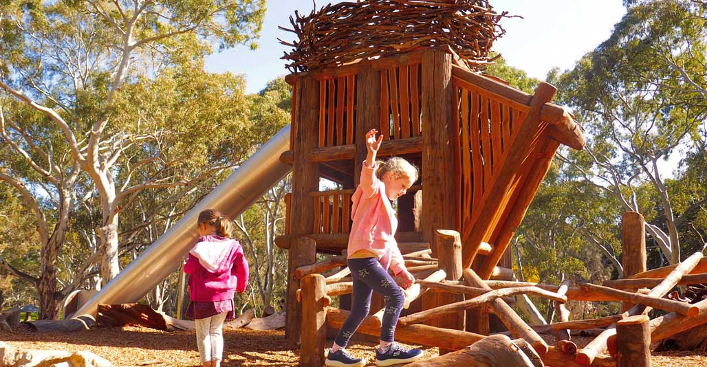 Play Spaces: Mukanthi Nature Playspace by Peter Semple, Climbing Trees Creations & Allan Sumner