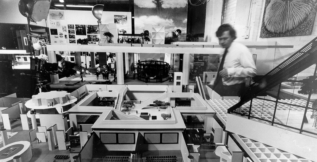 Darrel Conybeare at the Eames office, where he worked for three years.