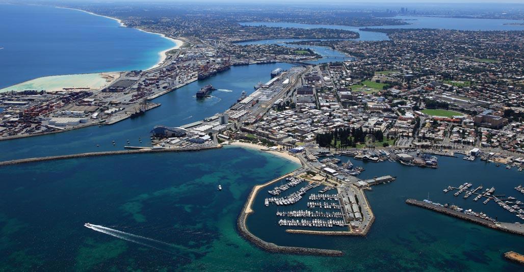Aerial view of Fremantle. Image: Alan Deveau
