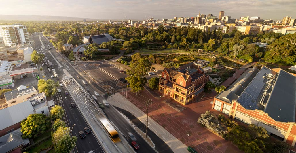 Infrastructure: O-Bahn City Access Project by Oxigen. Image: Corey Roberts