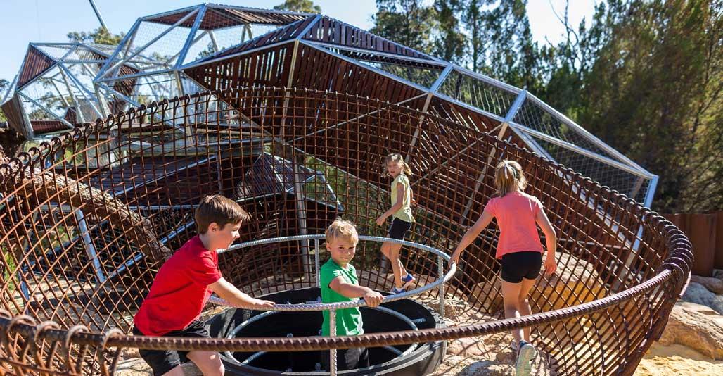 Play spaces landscape award: Rio Tinto Naturescape Kings Park by Plan E. Image: Jason Thomas