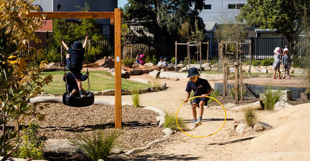Play Spaces: Alberton Primary School, 'The Nest', by JPE Design Studio. Image: Sam Noonan