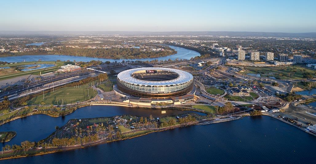 Optus Stadium Park. Image: Peter Bennetts