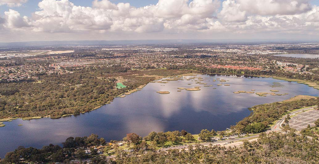 Bibra Lake, Western Australia. Image: BE Productions